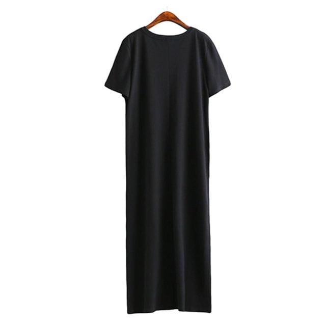 Maxi vestido estilo camiseta larga
