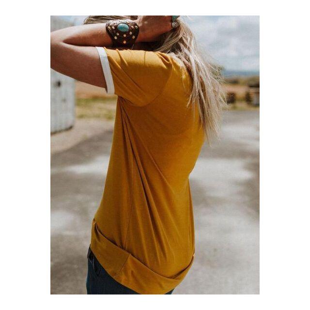 Camiseta de manga corta estilo 70´s con estampa